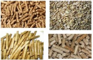 أعلاف عضوية مصنعة بشكل رئيسي من قشر الأرز