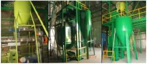 صورة من أحد المصانع التي تم تنفيذها لإنتاج الأعلاف العضوية الغير تقليدية