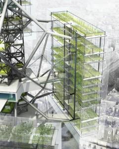 أبراج خاصة بالإنتاج الزراعي بإسلوب الزراعات المائية الرأسية
