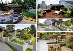 Modern Garden Design بعض تصاميم الحدائق الحديثه