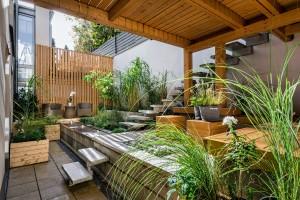 نموذج حديث في تصميم الحدائق المنزليه الداخليه